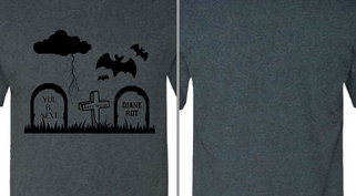 Graveyard with Bats Design Idea