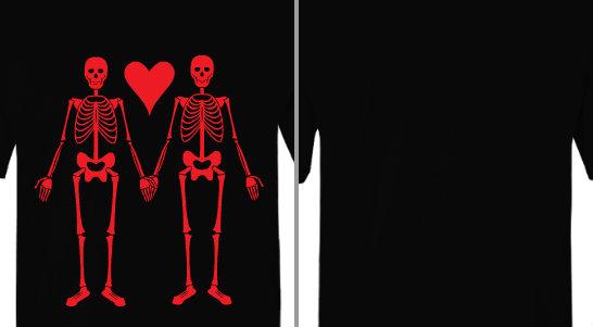 Skeleton Love Design Idea