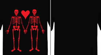 Skeleton Love Design Idea