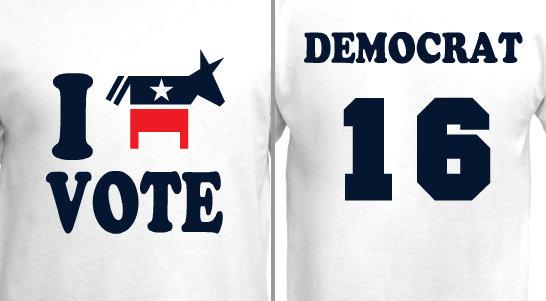 I Vote Democrat Design Idea
