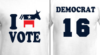 I Vote Democrat Design Idea