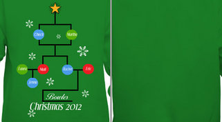 Christmas Family Tree Design Idea