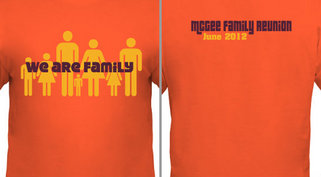 Family Reunion We Are Family Design Idea