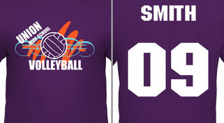 Volleyball Squiggle Design Idea