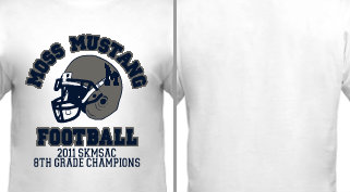 Custom Design Football Middle School