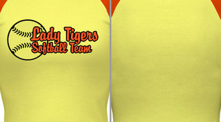 Lady Softball Design Idea