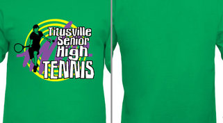 Tennis Swirl Design Idea