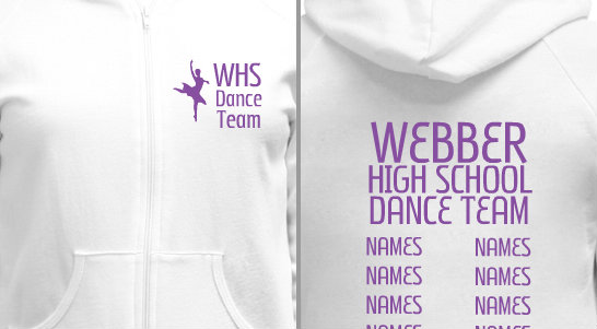 Dance Team Silhouette Design Idea