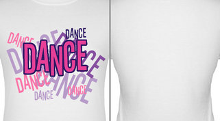Dance Word Jumble Design Idea