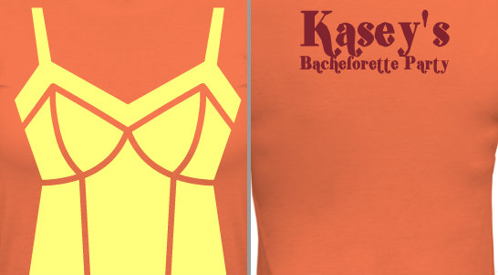 Bachelorette Party Lingerie Design Idea