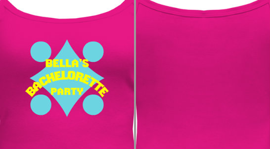 Bachelorette Party Camisole Design Idea