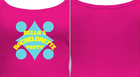 Bachelorette Party Camisole Design Idea