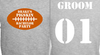 Bachelor Party Pigskin Design Idea