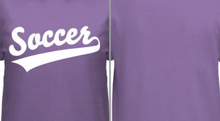 Purple Soccer T-Shirt Design Idea
