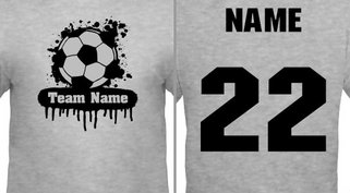 Paint Splat Soccer Jersey Design Idea