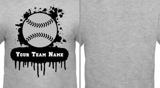 Gray Paint Splat Baseball Design Idea