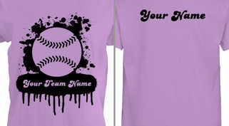 Softball Team T-shirt Design Idea