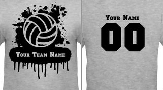 Volleyball Team T-Shirt Design Idea