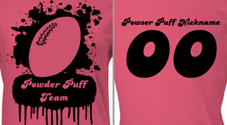 Customizable Powder Puff T-Shirt Design
