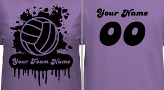 Women's Volleyball T-shirt Design