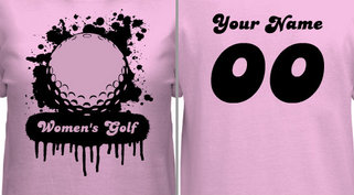 Women's Golf T-shirt Design
