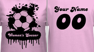 Women's Soccer T-shirt Design