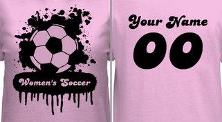Women's Soccer T-shirt Design
