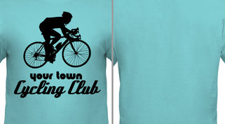 Blue Cycling Club T-shirt Design