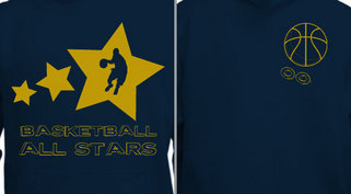 Basketball All Stars Sweatshirt Design