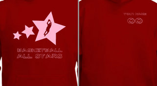 Women's Basketball All Stars Sweatshirt Design