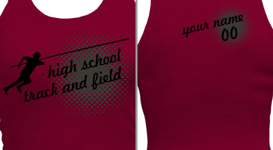 Women's Track and Field T-shirt Design
