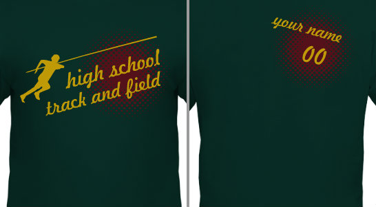 Men's Track and Field T-shirt Design