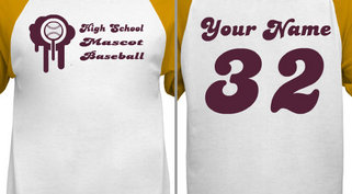 Customizable Baseball T-Shirt Design