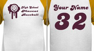 Customizable Baseball T-Shirt Design