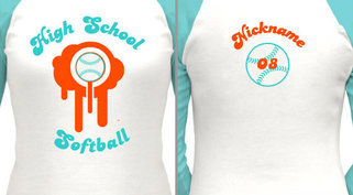 Customizable Softball T-Shirt Design