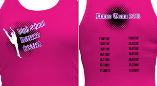 Women's Dance T-shirt Design