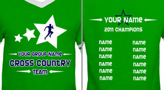 Green Customizable Cross Country Team T-shirt Design Idea