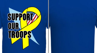 Support Our Troops Design Idea