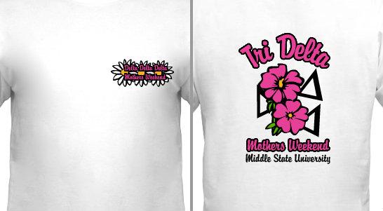 Tri Delta Flower Design Idea
