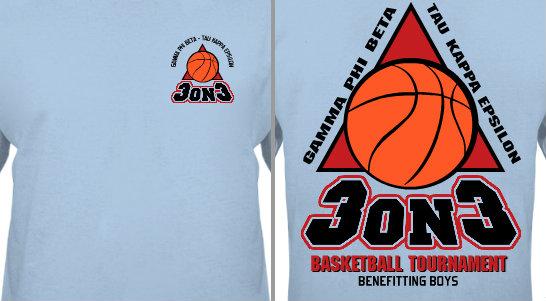 3 on 3 Basketball Tournament Design Idea