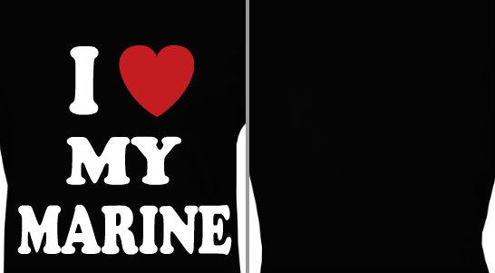 I Heart My Marine Design Idea