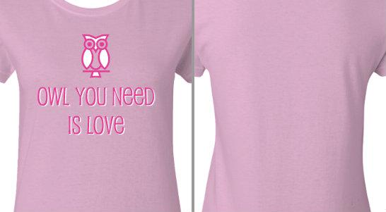 Owl You Need is Love Design Idea