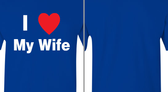 I Love My Wife Design Idea