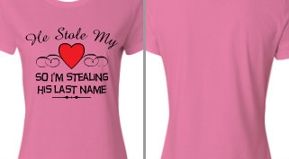 He Stole My Heart Design Idea