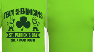 St. Patrick's Day Run T-shirt Design Idea