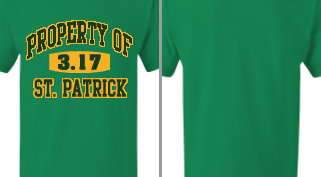 Property of St. Patrick T-shirt Design Idea