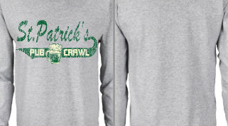 St. Patrick's Pub Crawl T-shirt Design Idea