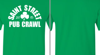 Saint Street Pub Crawl T-shirt