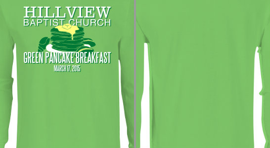 Green Pancake Breakfast T-shirts
