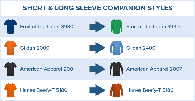 Long Sleeve T-Shirt Chart